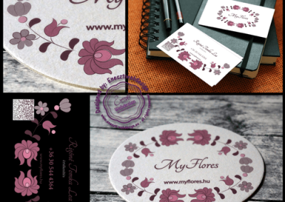 MyFlores logo logo and businesscard