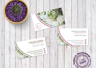 Esküvők Virága businesscard